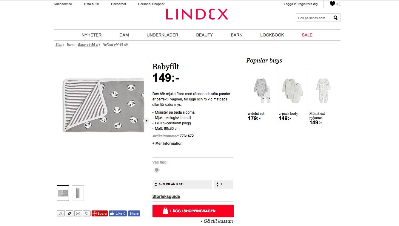 Lindex - produktcopy