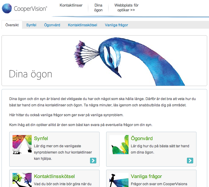 coopervision copywriting